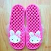 K011-DPK **พร้อมส่ง** (ปลีก+ส่ง) รองเท้านวดสปา เพื่อสุขภาพ ปุ่มเล็ก ลายกระต่าย สีชมพู