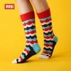 S423**พร้อมส่ง** (ปลีก+ส่ง) ถุงเท้าแฟชั่นเกาหลี ข้อยาว คละ 3 สี มี 12 คู่ต่อแพ็ค เนื้อดี งานนำเข้า