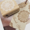 Lace-square wooden stamp