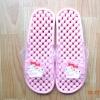 K011-PPK **พร้อมส่ง** (ปลีก+ส่ง) รองเท้านวดสปา เพื่อสุขภาพ ปุ่มเล็ก ลายมายเมโลดี้ สีชมพูอ่อน