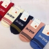 S610**พร้อมส่ง** (ปลีก+ส่ง) ถุงเท้าแฟชั่น เกาหลี ข้อยาว คละ 5 สี 10 คู่ต่อแพ็ค เนื้อดี งานนำเข้า(Made in China)