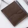 พร้อมส่ง กระเป๋าสตางค์ใบสั้นผู้ชาย นักธุรกิจ แฟชั่นเกาหลี ยี่ห้อ baellerry รหัส BA-D129-1 สีน้ำตาลเข้ม 1 ใบ *ไม่มีกล่อง