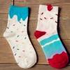 S464**พร้อมส่ง** (ปลีก+ส่ง) ถุงเท้าแฟชั่นเกาหลี ข้อยาว เนื้อดี งานนำเข้า(Made in china)