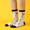 S455**พร้อมส่ง** (ปลีก+ส่ง) ถุงเท้าแฟชั่นเกาหลี ข้อยาว เนื้อดี งานนำเข้า(Made in china)