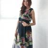เสื้อผ้าแฟชั่น สุด Chic ชุดเดรสยาว (Maxi Dress) ชีฟอง แขนกุด ลายดอก รหัส MN151_1