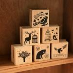 [S116] ตัวปั้ม wood forest-based literary stamp