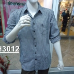 เสื้อเชิ้ตแขนยาวชาย ลายสก้อต ผ้า cotton100%