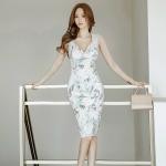 ชุดเดรสเกาหลี ผ้าคอตตอนผสมโพลีเอสเตอร์ เนื้อนิ่ม ยืดหยุ่นได้ดี ตัวเนื้อผ้าเงาสวย