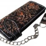 กระเป๋าสตางค์ยาวสีดำรอบขอบ-น้ำตาล พร้อมโซ่ Line id : 0853457150