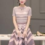 แฟชั่นเกาหลี set เสื้อ และกระโปรงสวยหรู