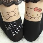 ถุงน่องแฟนซีน่ารักลาย Hello kitty