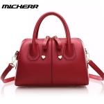 กระเป๋าถือและสะพายแฟชั่นเกาหลี ยี่ห้อ MICHERR แท้ (สีไวน์แดง)