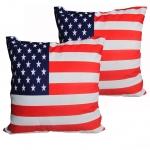 หมอนอิง ลายธงชาติอเมริกัน สวยๆ งามๆ ขนาด 18 x 18 นิ้ว ขายที่ละเป็นคู่