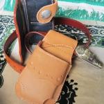 ซองหนังใส่กระเป๋าหนังแท้ ซองสีน้ำตาล Line id : 0853457150