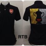 เสื้อโปโล อาร์เซนอล ลาย แชมป์ FA Cup สีดำ RTB