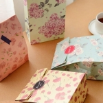 [C42-14] ถุงกระดาษ-Cute little fresh Flower Bags