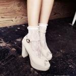 ถุงเท้าลูกไม้เกาหลี ถุงเท้าลายลูกไม้ฉลุแฟร์ชั่นเกาหลี สวยเก๋ไม่ซ้ำใครเหมาะกับรองเท้าหลากหลายแบบ