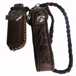 เชือกหนังถัก หนังวัวแท้ สำหรับ คล้องเข้ากับกระเป๋า และหูกางเกง พิเศษ สำหรับ ซองใส่ไฟเช็ค สุดเทห์