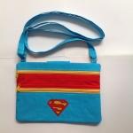 Superman กระเป๋าสะพาย ติดซิป ทรงสี่เหลี่ยมแนวนอน
