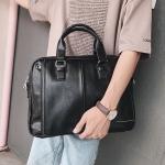 พร้อมส่งกระเป๋าถือนักธุรกิจ ใส่คอมพิวเตอร์ 14 นิ้ว กันน้ำ แฟขั่นผู้ชายเกาหลี รหัส Man-9937 สีดำ 1 ใบ