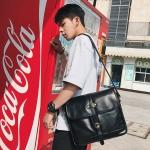 พร้อมส่ง กระเป๋าผู้ชาย Messenger สะพายข้างผู้ชาย ใส่ ipad แฟขั่นเกาหลี รหัส Man-6540 สีดำใหญ่ 1 ใบ