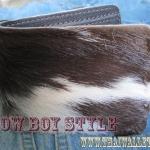 กระเป๋าสตางค์ 2 พับ ขนวัวแท้ทั้งใบ Style Cowboy