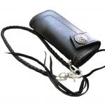 กระเป๋า ทรงยาว สไตล์คาวบอยอีกหนึ่งชุด เป็นหนังออย สีดำ-สีน้ำตาล หนังแท้ทั้งภายนอกและภายใน สุดเท่ห์สุดประมาณ พร้อมเชือกหนัง ยาว 18 นิ้ว ไว้ค้องกับหูกางเกง