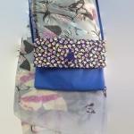 กระเป๋าสะพาย ปากพับ สะพายได้สองด้าน สีน้ำเงิน