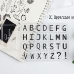 ตัวปั้มใส-Clear Stamp-ตัวอักษร