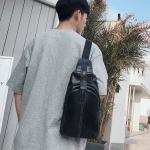พร้อมส่ง กระเป๋าผู้ชายสะพายคาดอก ใส่ipad 8 นิ้ว แฟชั่นเกาหลี รหัส Man-8175 สีดำ 1 ใบ