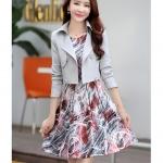 ชุดเดรสเกาหลี set เสื้อสูท และเดรสสวยหวานครับ
