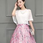 แฟชั่นเกาหลีสวยๆ set เสื้อ และกระโปรงสวยหวานครับ