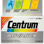 Centrum + Beta-carotene Lutien เซนทรัม วิตามินและเกลือแร่รวม บรรจุ 90 เม็ด