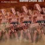 [P-Bandai] 1/12 Scale Geonosis Battle Droid Set Plastic Model