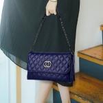 พร้อมส่ง กระเป๋าผู้หญิงใบเล็กสะพายไหล่และสะพายข้าง แฟชั่นสไตล์เกาหลี KO-5625 สีน้ำเงิน 2 ใบ