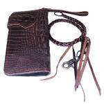 Pretty Genuine CowHide Leather in Pattern Of Crocodile Skin กระเป๋าทรงยาวอัดลายเป็นหนังจระเข้ดูเสมือนจริง80% สำเนา