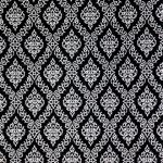 ผ้าลายไทย LT0082_bw ขาวดำ