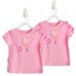 เสื้อแขนสั้นสีชมพู I love Daddy ไซส์ 18-24 เดือน