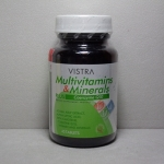 VISTRA Multivitamins Minerals Plus Co Q10 45เม็ด แหล่งวิตามินรวม 28 ชนิด บำรุงร่างกายใน 1 เม็ด