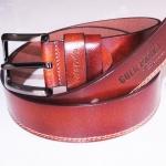 Beautiful Genuine CowHide Leather Belt and Buckle เข็มขัดหนังวัวแท้ สีน้ำตาลเข็ม