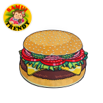Hamburger Beach Blanket