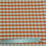 ผ้าฝ้าย cotton 100% ลายสก็อต ส้ม-ครีม Plaid Orange-Cream