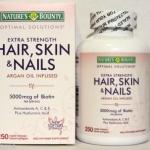 Hair, Skin and Nails by Nature's Bounty เนเจอร์ เบาวน์ตี้ วิตามินบำรุงผม ดกหนา ผิวกระจ่างใส เล็บสวย