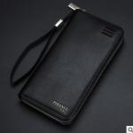 พร้อมส่ง กระเป๋าสตางค์ใบยาว คลัทซ์และสายคล้องมือ แฟชั่นเกาหลี ยี่ห้อ baellerry รหัส BA-S1217-3 สีดำ 1 ใบ*ไม่มีกล่อง