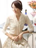 เสื้อแฟชั่น Brand Solo style เสื้อแขนยาว สีขาว ผ้าคอตตอนผสม spandex เนื้อนิ่มมาก ยืดหยุ่นได้ดี สวยมากๆครับ (พร้อมส่ง)