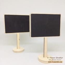 กระดานดำจิ๋วสี่เหลี่ยม-แบบตั้ง 10x7.5cm (5ชิ้น)