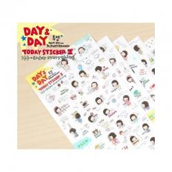 สติ๊กเกอร์ชุด : Day & Day Planner Stickers Set