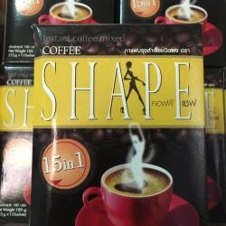 กาแฟคอฟฟี่เชพ กล่องดำ 15 IN 1 Coffee Shape