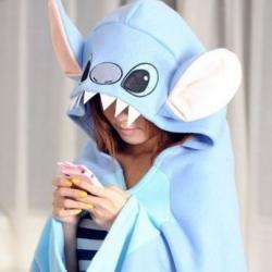 ชุดคลุมไหล่-สติช (Stitch) สีฟ้า