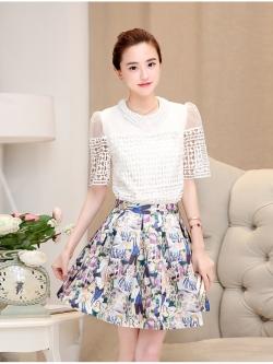 แฟชั่นเกาหลี set 2 ชิ้น เสื้อและกระโปรง สวยมากครับใส่ทำงานได้